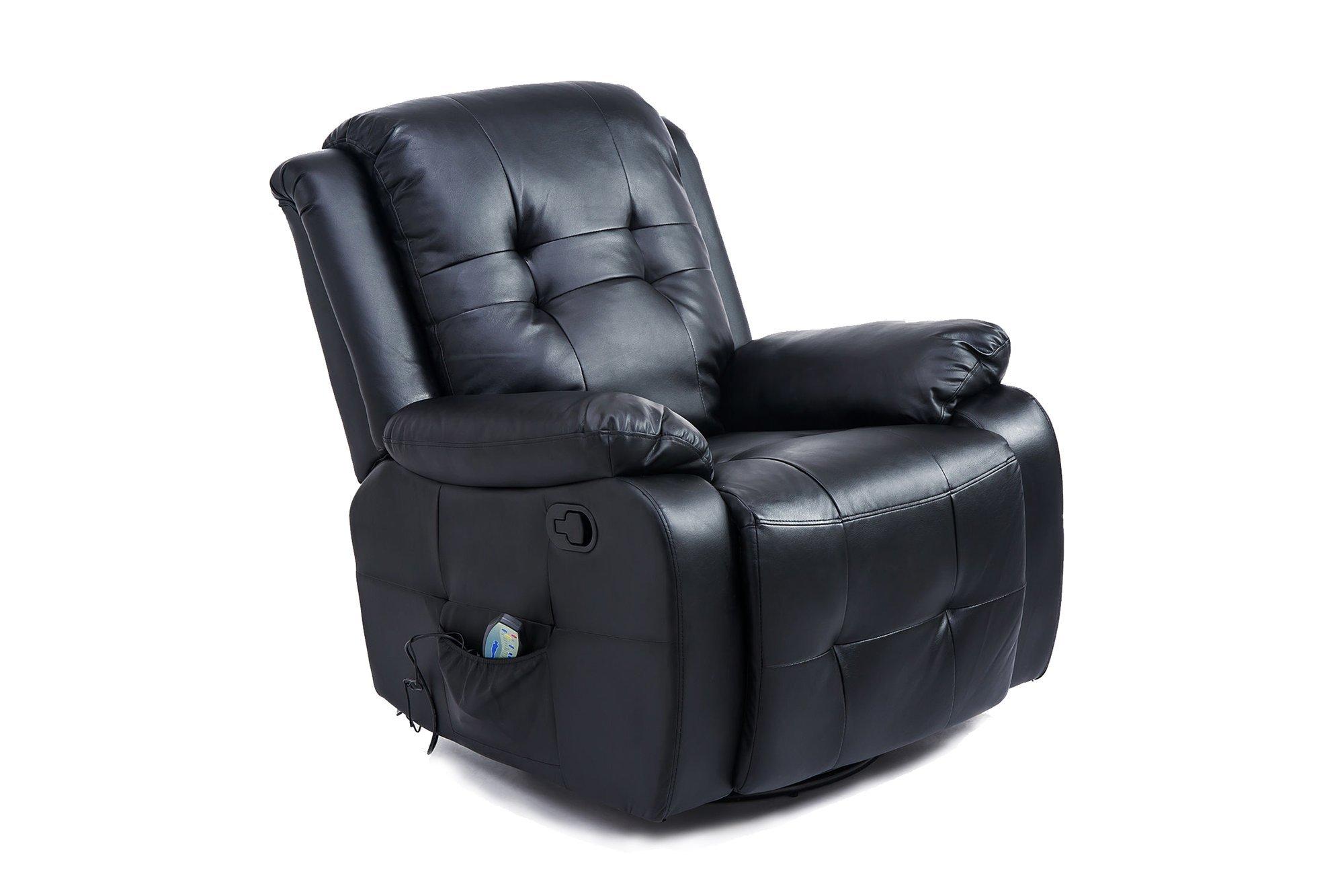 Massage chair with heating function Homcom 700-053BK Black