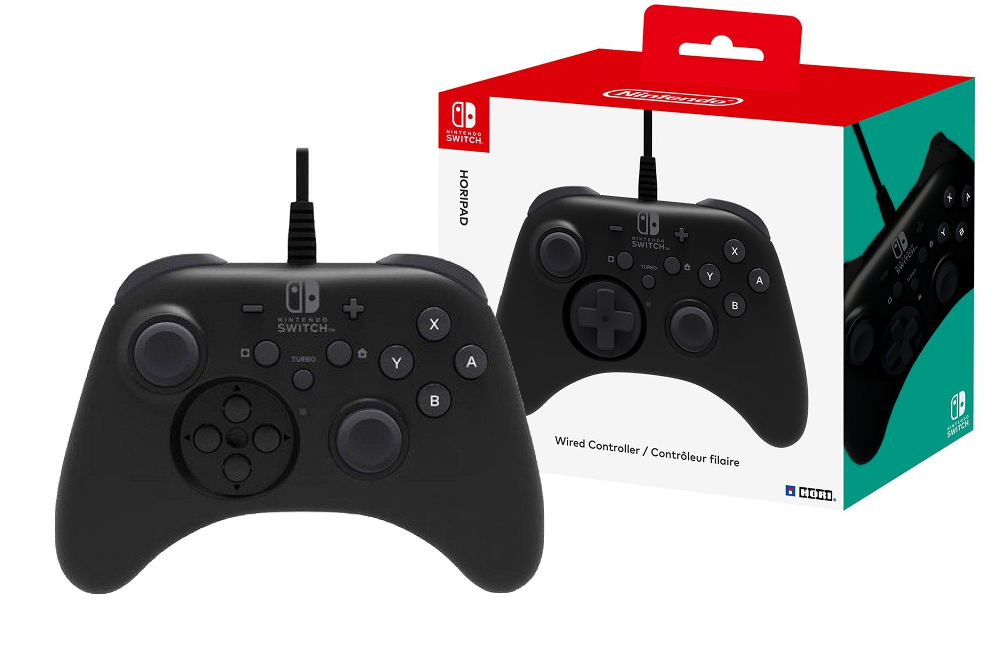 Wired Gamepad Hori Nintendo Switch Horipad NSW-001U Black