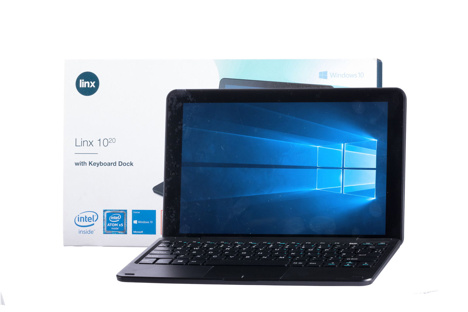 2in1 Tablet Linx with Keyboard Dock 1020 32GB Windows 10  Grade A