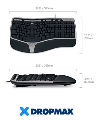 Microsoft Natural Ergonomic 4000 Keyboard (UK105 / British)