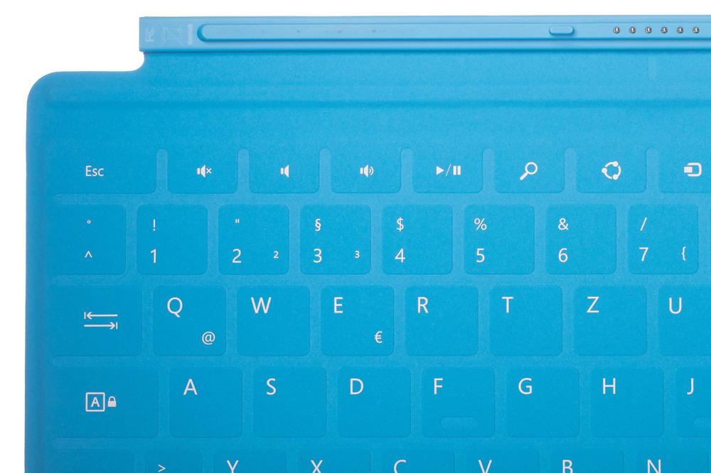 Microsoft Surface TouchCover Cyan (German/Deutsch)